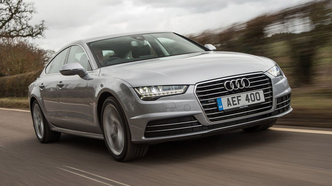 Audi A7 Sportback on the road